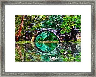Kefalos Bridge Cyprus Framed Print