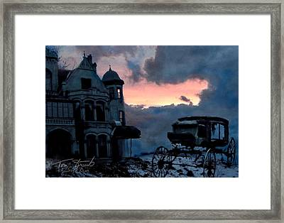 Keg And Carriage Framed Print by Tom Straub