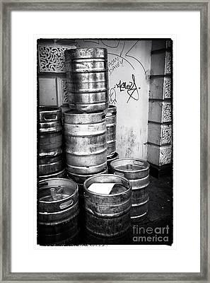 Keg O Beer Framed Print