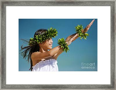 Keiki Hula Framed Print by Ron Dahlquist - Printscapes