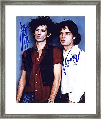 Keith And Mick Signed Framed Print by Pd