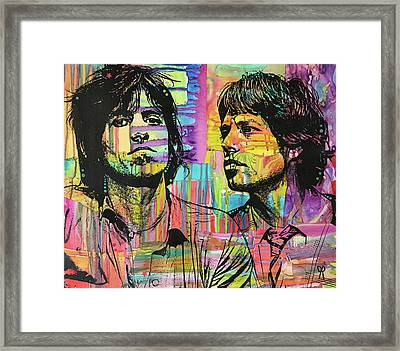 Keith And Mick Sway Framed Print