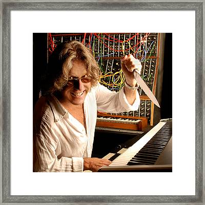 Keith Emerson By Gene Martin Framed Print