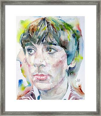 Keith Moon - Watercolor Portrait.2 Framed Print