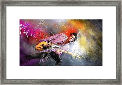 Keith Richards 02 Framed Print by Miki De Goodaboom