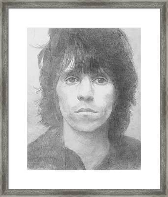 Keith Richards '72 Framed Print by Glenn Daniels