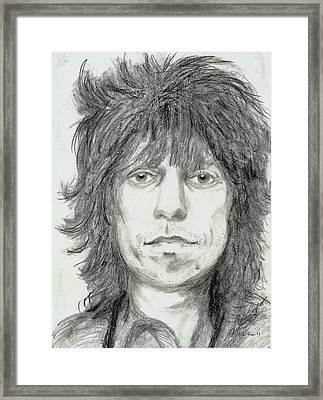 Keith Richards Framed Print by Alison Hayes