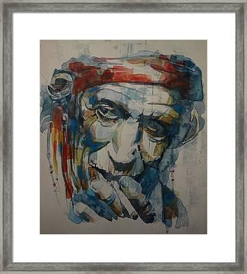 Keith Richards Art Framed Print