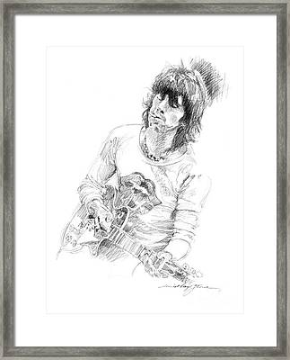 Keith Richards Exile Framed Print