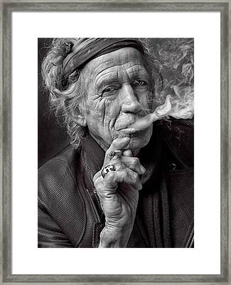 Keith Richards Framed Print by Hans Wolfgang Muller Leg