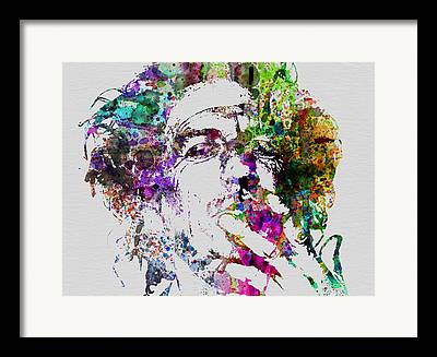 Keith Richards Paintings Framed Prints