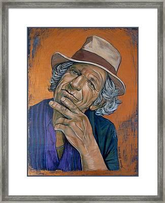 Keith Richards Framed Print by Jovana Kolic