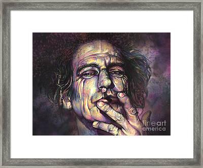 Keith Richards Framed Print by Julianne Black
