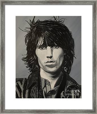 Keith Richards Framed Print by Mary Capriole