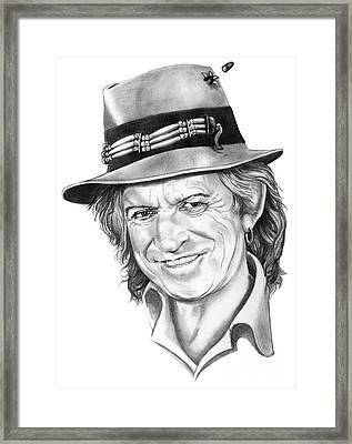 Keith Richards Framed Print by Murphy Elliott
