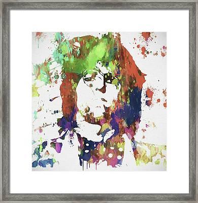 Keith Richards Paint Splatter Framed Print