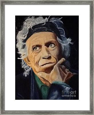 Keith Richards Portrait Framed Print