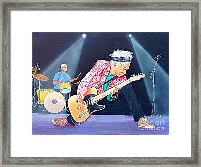 Keith Richards With Charlie Watts Framed Print