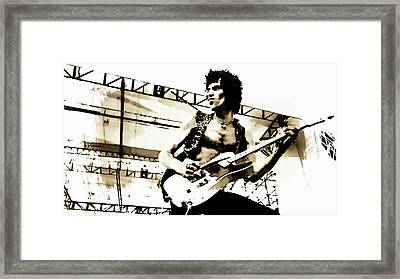 Keith Richards - Rolling Stones Framed Print by Ian Gledhill