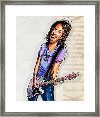 Keith Urban II Framed Print by Gary Bodnar