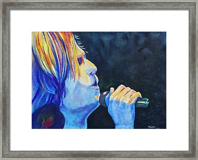 Framed Print featuring the painting Keith Urban In Concert by Susan DeLain