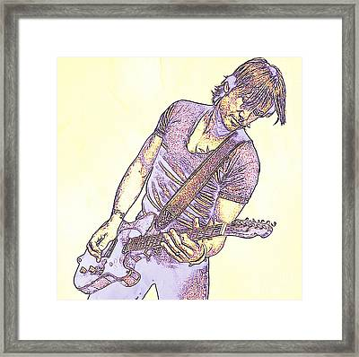 Keith Urban Sketch Framed Print by JohnMalone