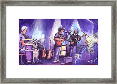 Framed Print featuring the painting Keller And His Compadres by David Sockrider