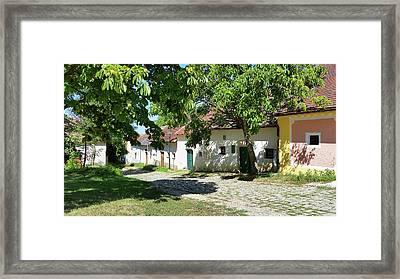 Kellergasse Framed Print