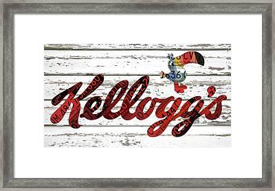 Kelloggs Fruit Loops Cereal Michigan Vintage License Plate Art Framed Print