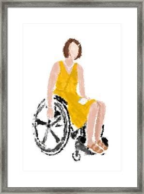 Framed Print featuring the digital art Kelly by Nancy Levan