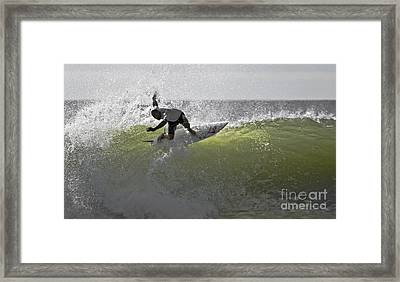 Kelly Slater At The Quicksilver Pro 2011 Framed Print