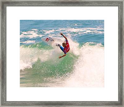 Kelly Slater  Us Open Of Surfing 2012     7 Framed Print