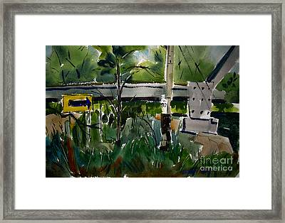 Kelly Street Rr Bridge Trailhead Framed Framed Print