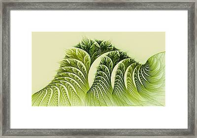 Kelp Towers Of The Fractal Sea Framed Print