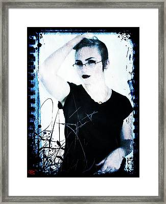 Framed Print featuring the digital art Kelsey 2 by Mark Baranowski
