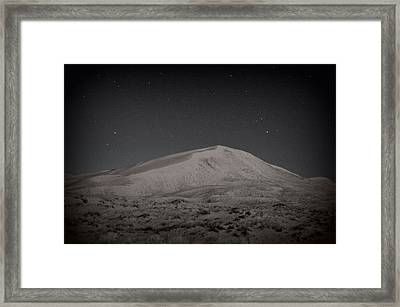 Kelso Dunes At Night Framed Print