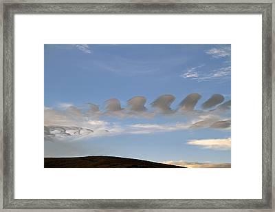 Kelvin Helmholtz Clouds Framed Print by Donna Kennedy