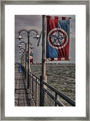 Kemah Boardwalk Framed Print