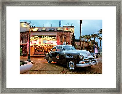 Framed Print featuring the photograph Kemah Police Car At The Kemah Boardwalk - Texas by Jason Politte