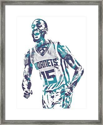 Kemba Walker Charlotte Hornets Pixel Art 25 Framed Print