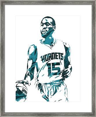 Kemba Walker Charlotte Hornets Pixel Art 5 Framed Print