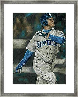 Ken Griffey Jr Framed Print by David Courson