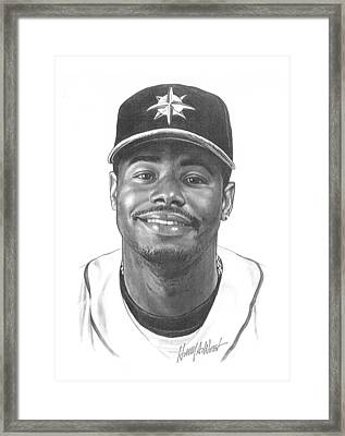 Ken Griffey Jr Framed Print by Harry West