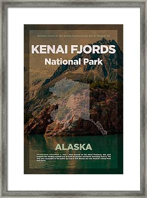 Kenai Fjords National Park In Alaska Travel Poster Series Of National Parks Number 35 Framed Print