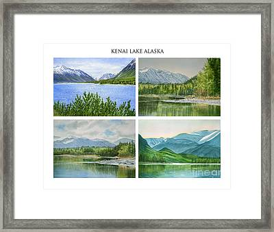 Kenai Lake Alaska Poster With Title Framed Print