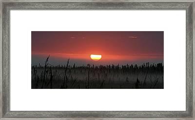 Kenai Peninsula Early Sunrise Framed Print by Mary Gaines