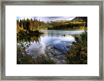 Kenai River In Fall Framed Print