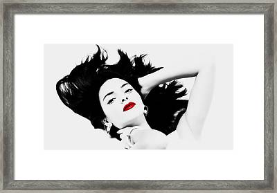 Kendall Jenner Framed Print by Brian Reaves
