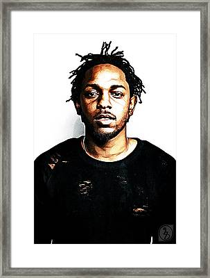 Kendrick Lamar Framed Print by The DigArtisT