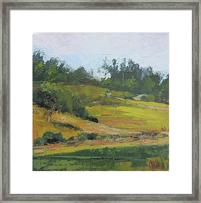 Framed Print featuring the painting Kenilworth Hills Queensland Australia by Chris Hobel